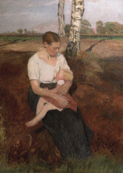 """Sonderausstellung Fritz Mackensen """"Mutter mit Kind"""" Fritz Mackensen 1892"""